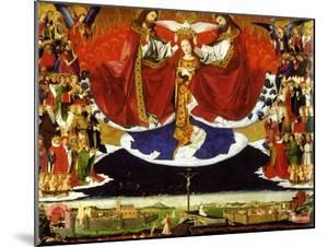 The Coronation of the Virgin, 1454 by Enguerrand Quarton