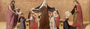 The Virgin of Mercy of the Cadard Family, 1453 by Enguerrand Quarton