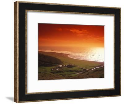 Enhanced Sunset on an Irish Coast-Nick Norman-Framed Photographic Print