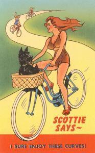 Enjoy Curves, Scottie in Bicycle Basket