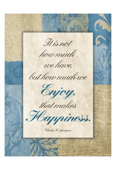 Enjoy Happiness-Jace Grey-Art Print