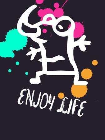 Enjoy Life 2-Lina Lu-Art Print