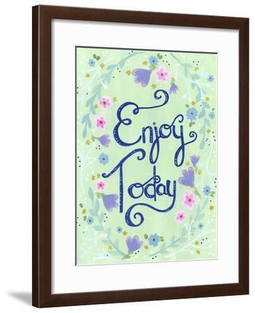 Enjoy Today Mint Floral-Jennifer Nilsson-Framed Giclee Print