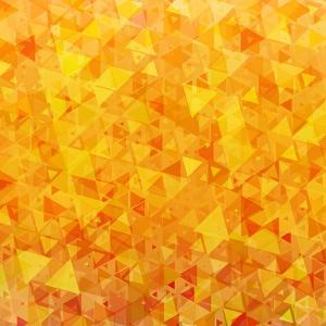 Bright Orange Scattered Triangles Background by Enka Parmur