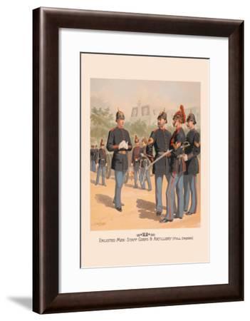 Enlisted Men, Staff and Artillery in Full Dress-H.a. Ogden-Framed Art Print