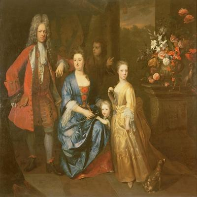 Colonel Andrew Bissett and His Family, 1708