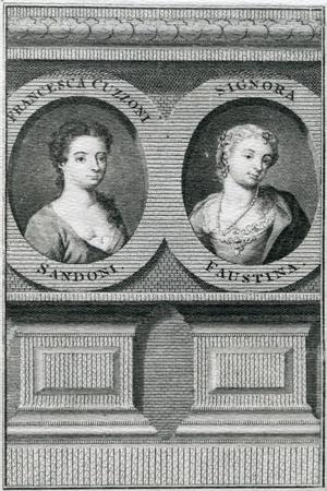 Double Portrait of Francesca Cuzzoni (1696-1778) and Faustina Bordoni (1697-1781)