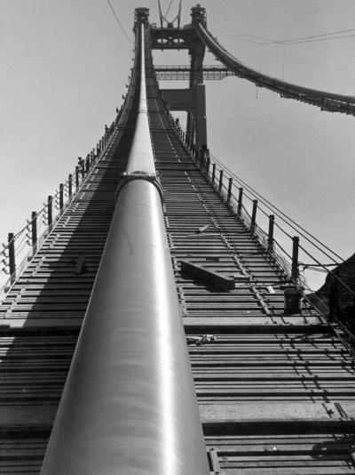 Enormous Cables that Supports a 6-Lane Highway, During Construction of Golden Gate Bridge-Peter Stackpole-Photographic Print
