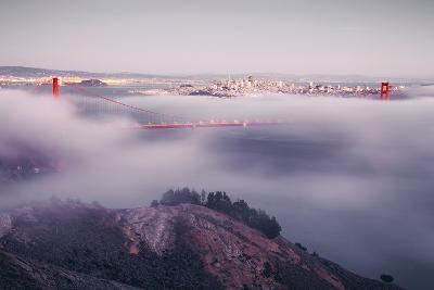 Enraptured by Fog, Golden Gate Bridge, San Francisco-Vincent James-Photographic Print