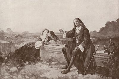 The Blind Milton Dictating to His Daughters at His Home at Chalfont