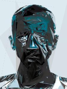 Black and Blue Man by Enrico Varrasso