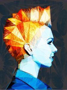 Girl with Mohawk by Enrico Varrasso