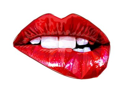 Lip Bite by Enrico Varrasso