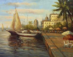 Santo Domingo Harbor by Enrique Bolo