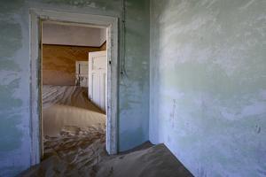 Abandoned House Full of Sand. Kolmanskop Ghost Town, Namib Desert Namibia, October 2013 by Enrique Lopez-Tapia