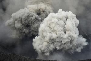 Ash Cloud from Eruption of Yasur Volcano, Tanna Island, Vanuatu, September 2008 by Enrique Lopez-Tapia