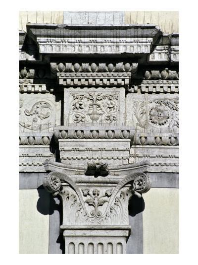 Entablature and Pilaster Capital from the Courtyard--Giclee Print