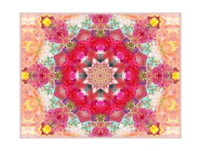 Entchanting Poeny Mandala No 5-Alaya Gadeh-Art Print