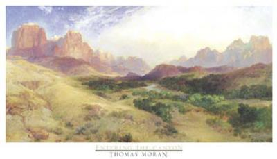 Entering the Canyon-Thomas Moran-Art Print