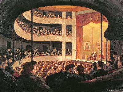 Entertainment at the Garrison Theatre, Bayeux, 1946-Paul Goranson-Giclee Print