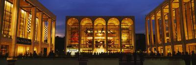 Entertainment Building Lit Up at Night, Lincoln Center, Manhattan, New York City--Photographic Print