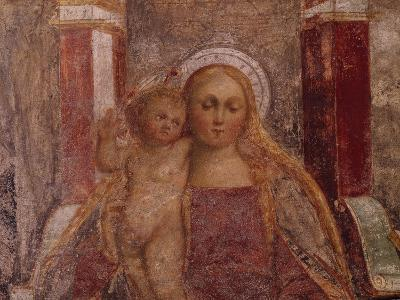 Enthroned Madonna and Child from Basilica of San Giulio, Island of San Giulio, Orta San Giulio--Giclee Print