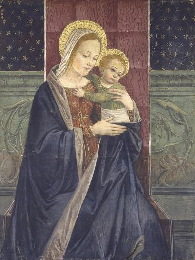 Enthroned Madonna with Child, 15th C--Art Print