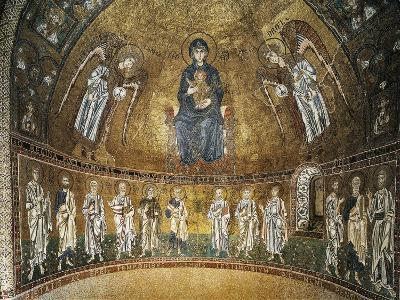 Enthroned Virgin with Archangels and Apostles, Mosaic, Apse of Santa Maria Assunta--Giclee Print