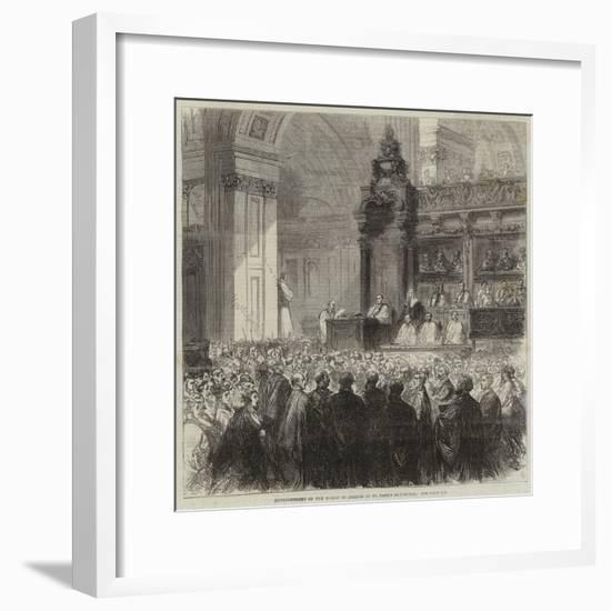Enthronement of the Bishop of London in St Paul's Cathedral--Framed Giclee Print