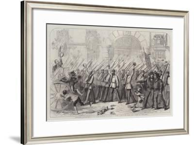Enthusiastic Reception Given to the British Volunteers for Garibaldi at Naples-Thomas Nast-Framed Giclee Print