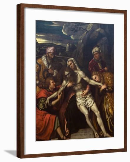 Entombment of Christ-Moretto Da Brescia-Framed Art Print