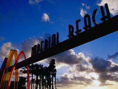 Entrance Arch through to the Imperial Beach Pier in San Diego, San Diego, California-Richard Cummins-Photographic Print
