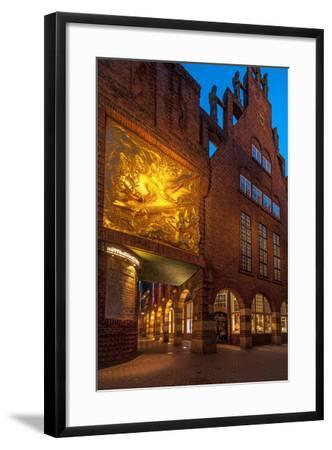 Entrance B?ttcherstrasse (Street), Old Town, Bremen, Germany, Europe-Chris Seba-Framed Photographic Print