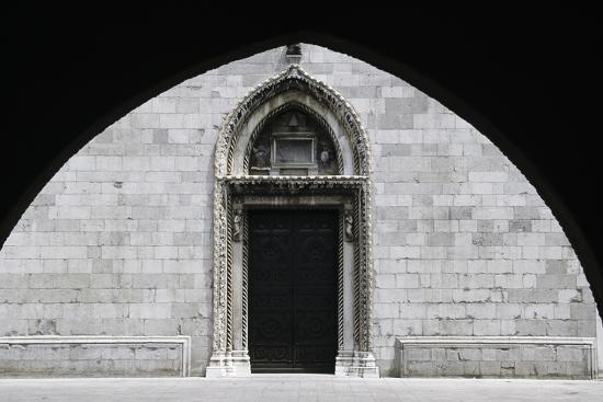 Entrance, Cathedral of Cividale Del Friuli--Giclee Print