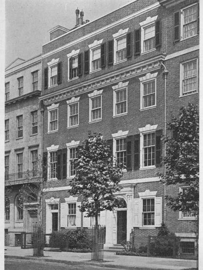 Entrance front, house of Miss Anne Morgan, Sutton Place, New York City, 1924-Unknown-Photographic Print