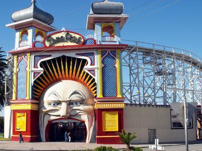 Entrance Gate to Luna Park, Melbourne, Victoria, Australia-David Wall-Photographic Print