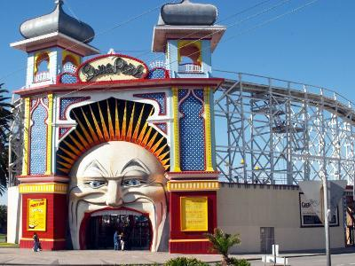 Entrance Gate to Luna Park, St Kilda, Melbourne, Victoria, Australia-David Wall-Photographic Print