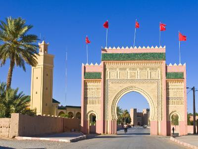 Entrance Gate to the Desert Town of Rissani, Morocco, North Africa, Africa-Michael Runkel-Photographic Print