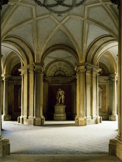 Entrance Hall at Ground Floor, Statue of Hercules, Royal Palace of Caserta--Photographic Print