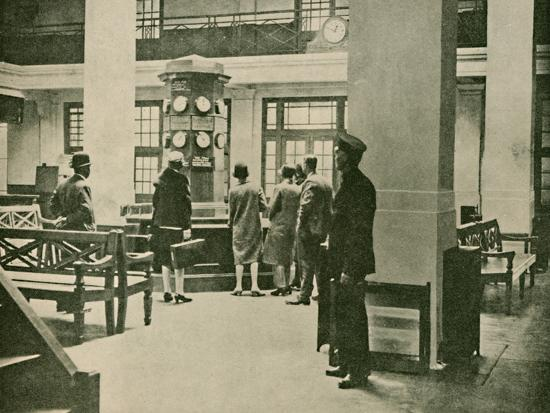 'Entrance Hall, London Air Station', 1927-Unknown-Photographic Print