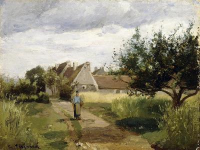 Entrance of a Village, C.1863-Camille Pissarro-Giclee Print