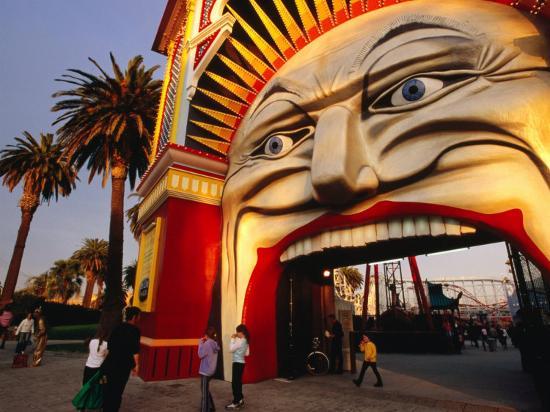 Entrance of Luna Park, Melbourne, Australia-James Braund-Photographic Print