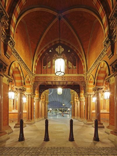 Entrance of St. Pancras International, Home of Eurostar and Gateway to the Continent-David Bank-Photographic Print