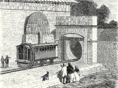 Entrance of the Atmospheric London to Sydenham Railway Established in 1865--Giclee Print