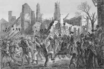 Entrance of the Fifty-Fifth Massachusetts Regiment into Charleston on 21st Feb 1863--Giclee Print