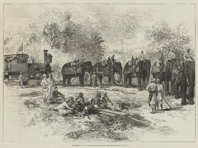 Entrance of the First Locomotive into Indore, Central India--Giclee Print