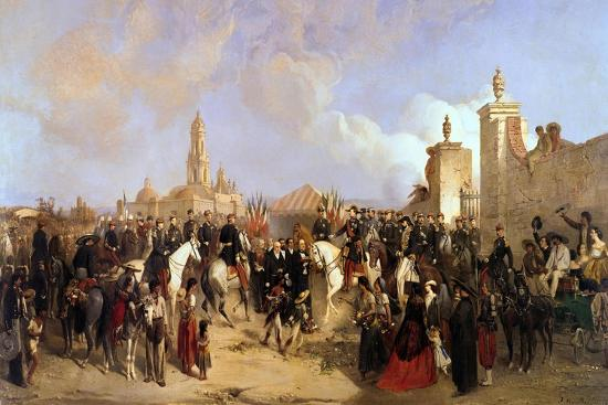 Entrance of the French Expeditionary Corps into Mexico City,1863-Jean Adolphe Beauce-Giclee Print
