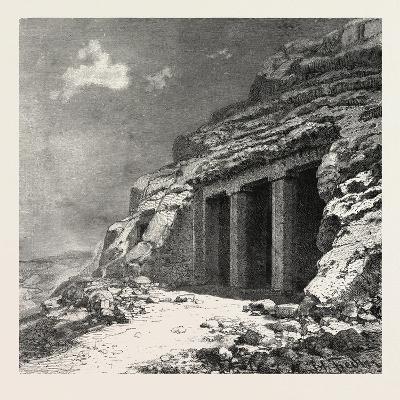 Entrance of the Tomb at Beni Hasan, Egypt, 1879--Giclee Print