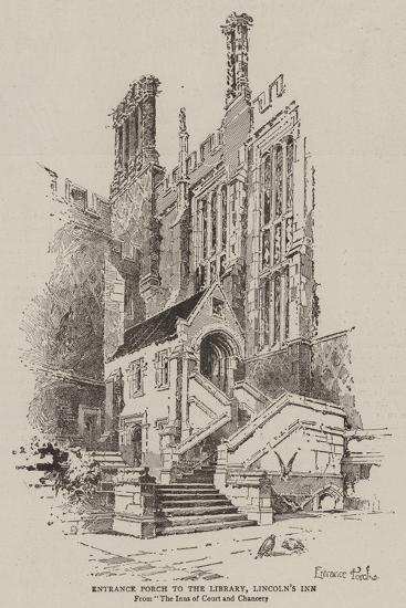 Entrance Porch to the Library, Lincoln's Inn--Giclee Print