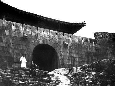 Entrance to a Temple, Korea, 1900--Giclee Print